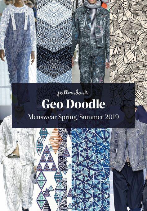 Menswear Spring/Summer 2019 – Print and Pattern Trend Hightlights | Patternbank #trendingclothes