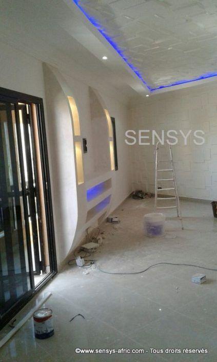 Amenagement Salon Meuble Tv Ba13 Senegal Sensys Afric Amenagement Salon Decoration Salon Plafond Deco Meuble Tele