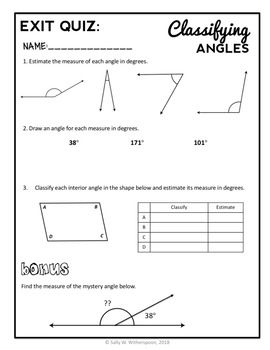 Estimating Angles in Degrees, 4th Grade Geometry Lesson