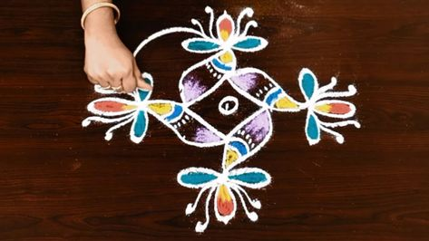 List Of Pinterest Rangoli With Dots Colour Images Rangoli With