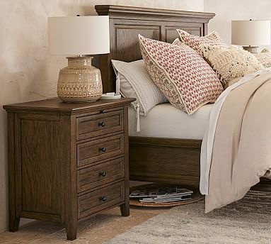 Hudson 4 Drawer Nightstand Hewn Oak Brown Furniture