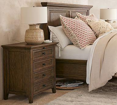Hudson 4 Drawer Nightstand Hewn Oak Brown Furniture