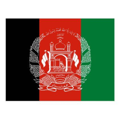 Flag Of Afghanistan Postcard Postcard Post Card Postcards Unique Diy Cyo Customize Personalize Afghanistan Flag Flag Coloring Pages Afghanistan