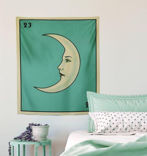 La Luna Card Moon Tapestry #TarotCardTapestry #LunaTapestry #MoonTapestry #TarotTapestry #LaLuna #WitchyTapestry #WiccanTapestry #GothicTapestry #MoonCardTapestry #MoonTarot