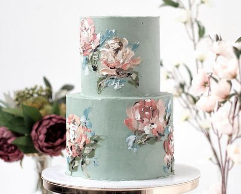 Beautiful Palette Painted Cake Watercolor Buttercream Frosting