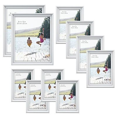 Mcs 10pc Picture Frame Value Set Two 8x10 In Four 5x7 In Four 4x6 In White Fashion Home Garden Homedcor Frames Ebay L In 2020 Gallery Frame Set Frame Frame Set
