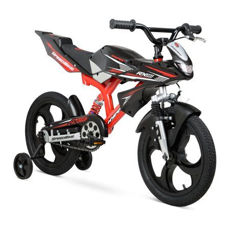 Hyper 16 Mag Wheels Motobike Kids Bike Black Red Walmart Com Kids Bike Speed Bike Best Kids Bike
