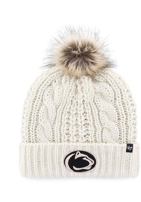 '47 Penn State Nittany Lions White Meeko Cuff Knit Womens Knit Hat - 48001589