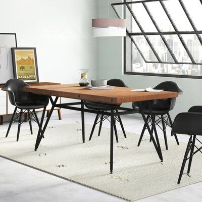 Trent Austin Design Cesare Gathering Counter Height Solid Wood Dining Table Solid Wood Dining Table Dining Room Industrial Dining Table