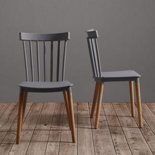 Stuhl Celine Buchefarben Grau Modern Holz Kunststoff 43 5 82 51 5cm Modern Living Stuhle Stuhl Holz Einrichtungsstil