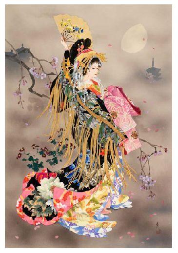 Geisha Chinese Beauty Counted Cross Stitch Kit Oriental