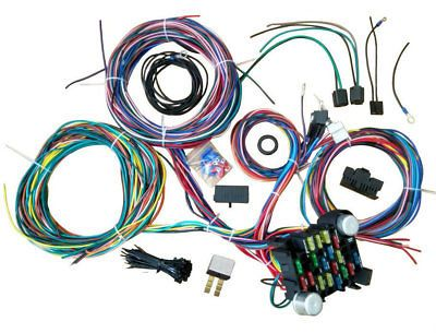 21 CIRCUIT WIRING Harness For Chevy Universal Wires Fit X ... on universal heater core, universal equipment harness, universal battery, universal steering column, universal fuse box, universal miller by sperian harness, universal radio harness, universal air filter, universal fuel rail, construction harness, lightweight safety harness, stihl universal harness, universal ignition module,