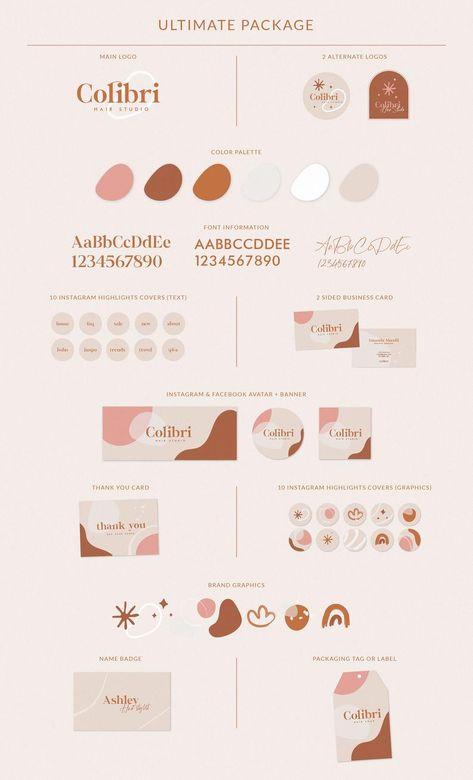 Brand Identity Design, Branding Design, Logo Design, Branding Kit, Self Branding, Personal Branding, Abstract Logo, Brand Board, Logo Color