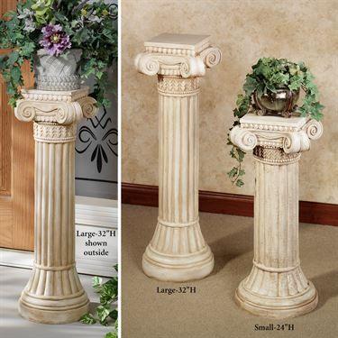 Ionic Indoor Outdoor Pedestal Column In 2019 Pedestal Indoor Outdoor Indoor
