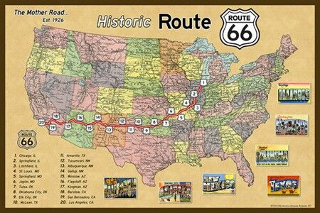 Map Of Old Route 66 Arizona.Pin On Route 66 Highways