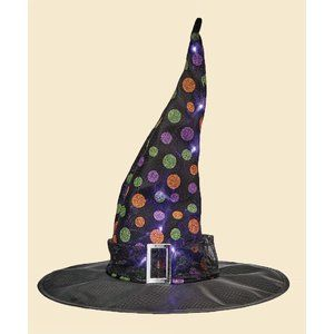 This Amazing And Fun Witch Hat Is The Perfect Touch For Halloween It Lights Up For That Uniqu Halloween Witch Decorations Halloween Yard Decorations Witch Hat