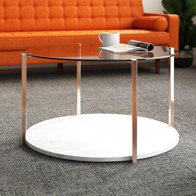 Mercer41 Hartranft Coffee Table Coffee Table Marble Coffee Table Coffee Table With Storage