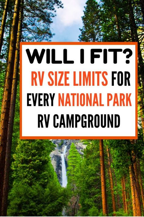 Considering an RV road trip to the National Parks in Utah or California? If Glacier or Yellowstone are on your bucket list of US states to visit in your RV, you need to know the MINIMUM RV length for ALL 62 National Parks. This guide has all of that. Travel Trailer Living, Travel Trailer Camping, Rv Travel, Roadtrip, Travel Trailers, Tiny Trailers, Camper Trailers, Travel Destinations, Rv Camping Tips