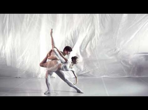 Ballet dancers in ultra-slow-motion, 1000 fps, to the sound of Radiohead.