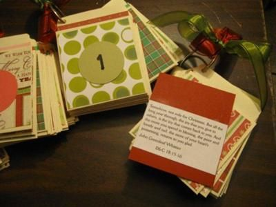 I wanted to make some advent calendars for my adults kids and some friends this year, and here's how I made them...  I bought 200 library book pockets.