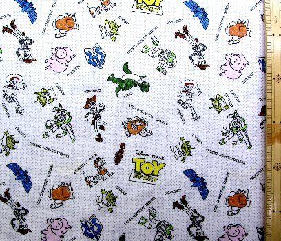 アメリカより直輸入された生地です キャラクター アメリカ 輸入 生地 トイ ストーリー オフ グレードット 30 ディズニー usaコットン 直輸入 手芸 カラーテープ ディズニー