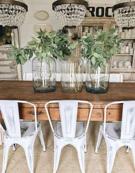 31 Ideas For Farmhouse Style Table Lamps Joanna Gaines Farmhouse Table Centerpieces Dining Room Table Centerpieces Farmhouse Table Decor