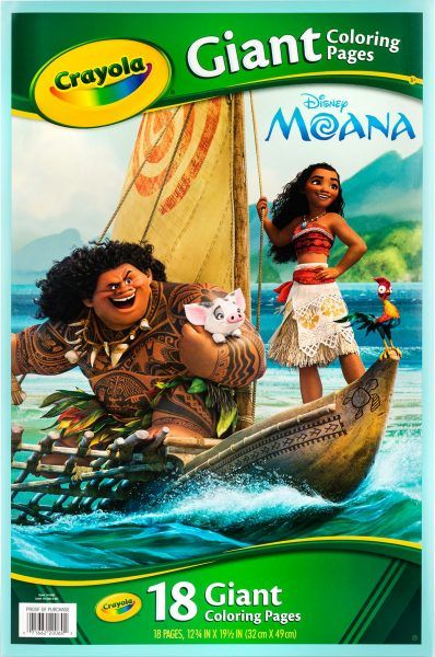 Crayola Giant Coloring Pages Disney S Moana Only 1 Reg 9 99 Disney Moana Moana Crayola