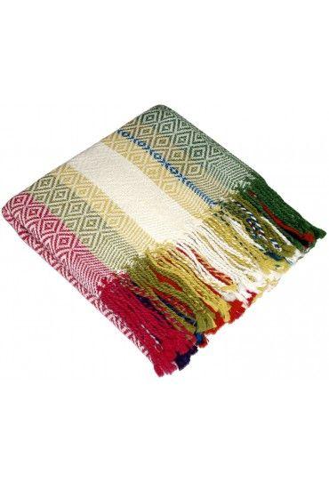 Blanket 100 Alpaca Fair Trade In Summer Colours Lorenzo Cana