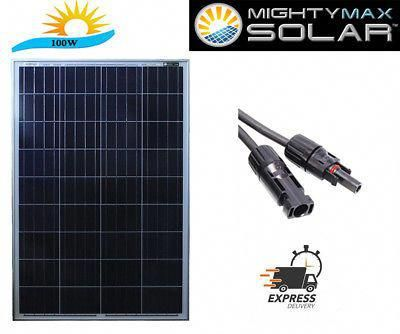 Details About Mighty Max 100 Watt Solar Panel 12v Poly Off Grid Battery Charger For Rv 100w In 2020 Solar Panel Charger Off Grid Solar Power Solar Panel Battery