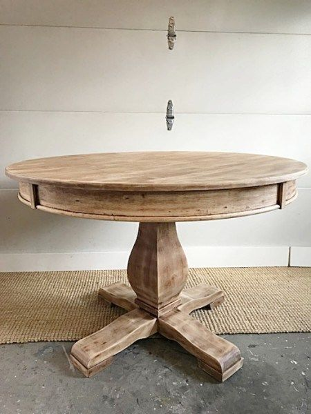 Awesome High Low Recreating A Naturally Aged Wood Pedestal Table Interior Design Ideas Tzicisoteloinfo