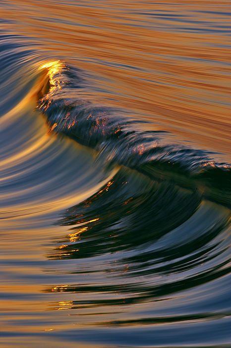 Glassy Wave by David Orias - Beautiful sunset!