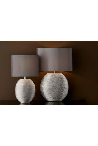 Buy Silver Ceramic Table Lamp From The Next Uk Online Shop Large Table Lamps Ceramic Table Lamps Home Decor