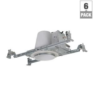 Halo H99 4 In Steel Recessed Lighting Housing For New Construction Ceiling No Insulation Contact Air Tite 6 Pack H99tat 6pk The Home Depot Recessed Lighting New Construction Recess