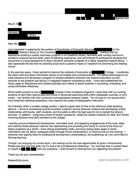 pediatric physical therapist cover letter Buy an essay Pinterest - cover letter for librarian