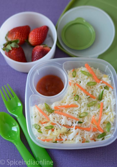 Vegetable Fried Rice Kids School Lunch Box 3 Vegetable Fried Rice Lunch Recipes Kids Meals