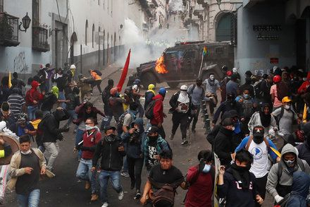 Seven Days Of Unrest And Counting Thousands Stream Into Ecuadors Capital Latest World News Streaming Usa News
