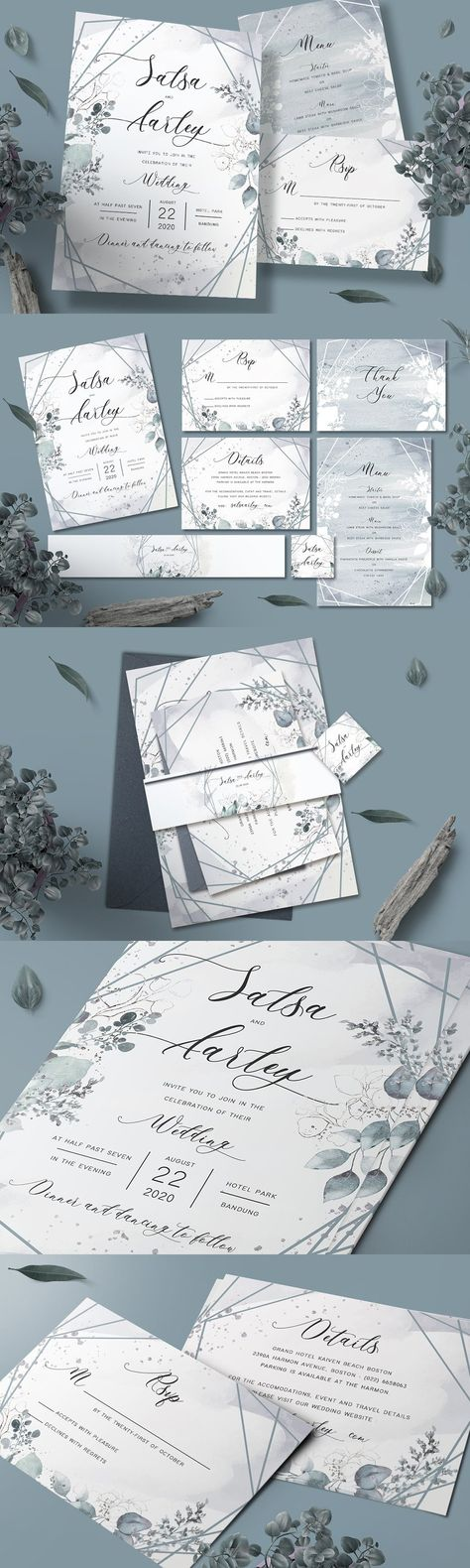 Foliage Wedding Invitation