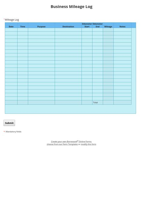 Pin by Borneosoft on Borneosoft form templates Pinterest Logs - mileage log form