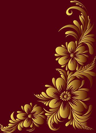 Ornate Floral Decorative Border Corner Border Design Page