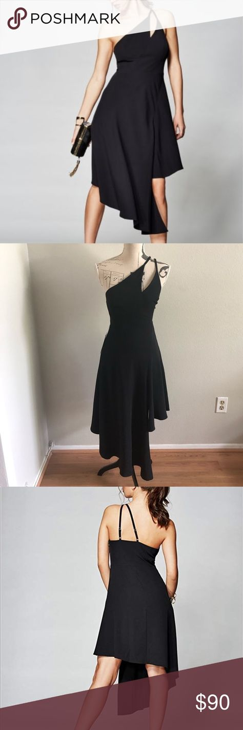 NWT Marciano black asymmetric dress NWT classy and sophisticated black dress to wear for a special occasion. Marciano Dresses