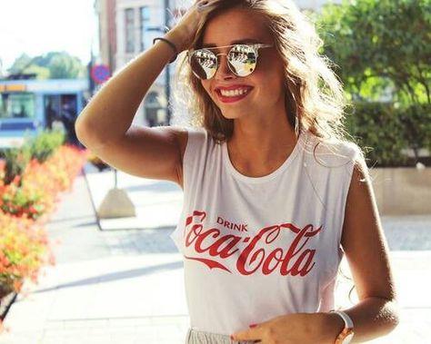 Image de girl, coca cola, and summer