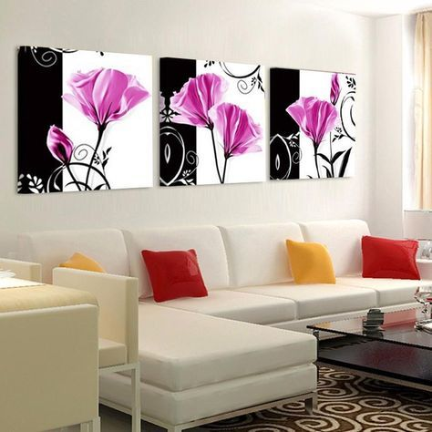 Canvas Painting Wall Art Pictures For Living Room Flower Tulip Canvas Prints Home Decor Modern Wall Art Tulip Decor Wall Art Canvas Painting Wall Art Pictures