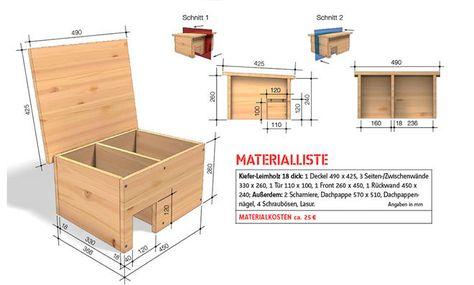 Igelhaus Bauanleitung Zeichnung