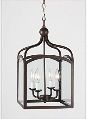 Ashley Antique Copper 4 Light Foyer Hanging Lantern Chandeliers