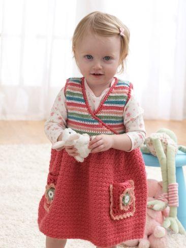 Jumper Dress | Yarn | Free Knitting Patterns | Crochet Patterns | Yarnspirations