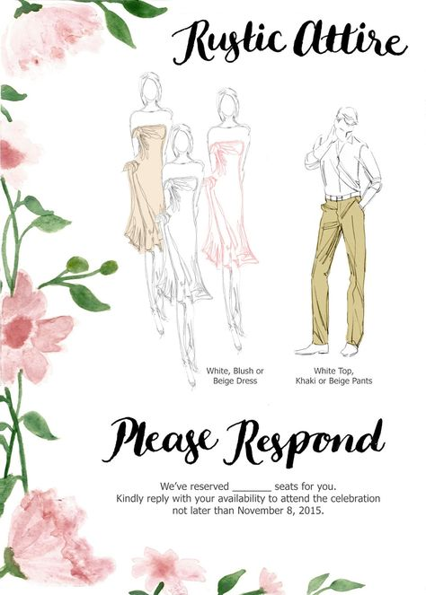 dress code wording for wedding - Google Search Wedding ideas - best of invitation wording lunch to follow