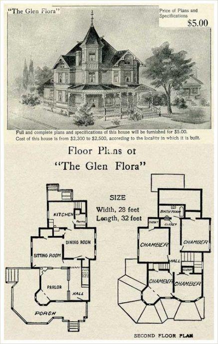 Trendy House Vintage Victorian Floor Plans 21 Ideas Victorian House Plans Vintage House Plans Gothic House
