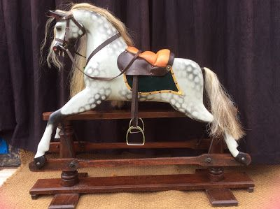 A Quick Guide To Identifying Your Wooden Antique Rocking Horse Makers Include Collinson Rocking Horses Baby Carria Antique Rocking Horse Horses Rocking Horse