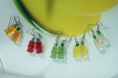 Gummi bears earrings Cute earrings for teen by WhiteDragonJewelry, $10.00