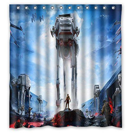 Free Shipping Buy Deyou Star Wars Shower Curtain Polyester Fabric
